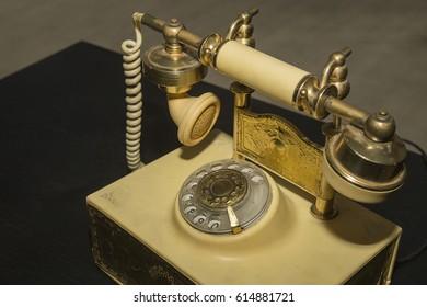Retro disk phone.