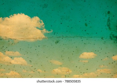 Retro  effect  blue sky with cloud. Nature background