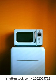 Retro fridge and microwave
