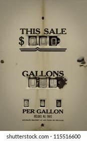Retro Gas Pump, outdoor old petrol station in Utah, US