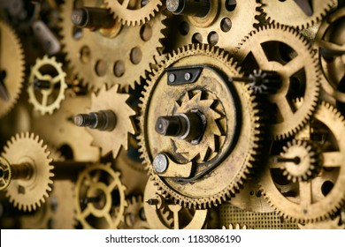 Retro gears and cogs macro