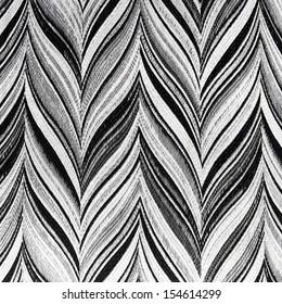 Retro geometric textile pattern