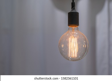 Retro glass ceiling lamp light bulbs interior vintage style decoration contemporary