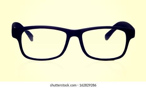 retro glasses on a white background