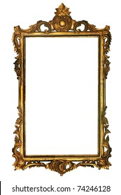 Retro gold frame with path