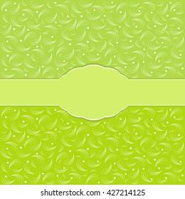 Retro greeting card template design.