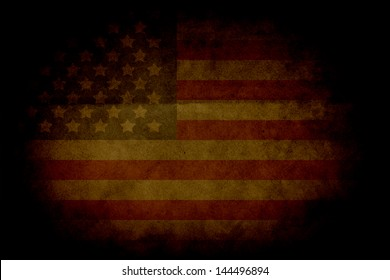 Retro Grunge America Four July Wallpaper Pattern