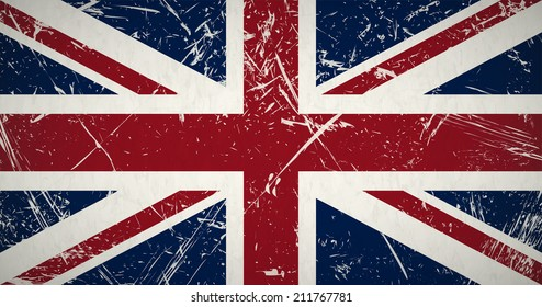 retro grunge flag of the united kingdom