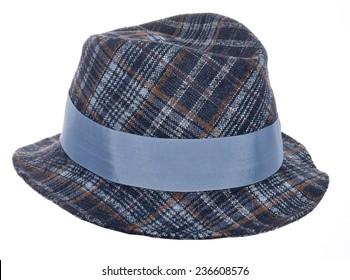 retro hat isolated on white