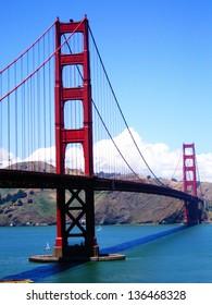 Retro image of Golden Gate Bridge, San Francisco