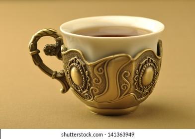 A retro islamic tea cup