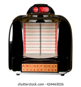 Retro Jukebox isolated on White Background