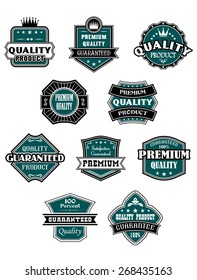 Retro labels set with western elements for retail industry