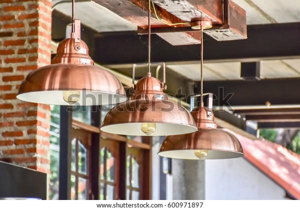 Retro lamp hanging