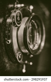 Retro lens, abstract techno backgrounds