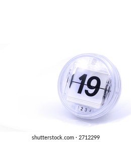 retro looking Calendar Date, number, page or counter