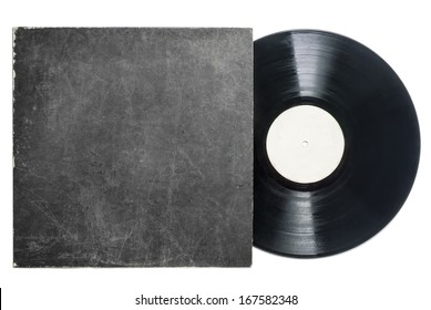 Retro LP vinyl record with sleeve with room for copy.