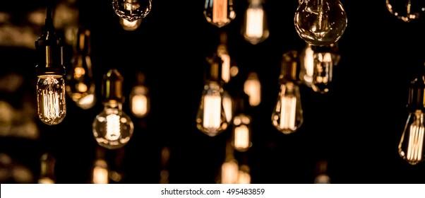 retro luxury light bulb