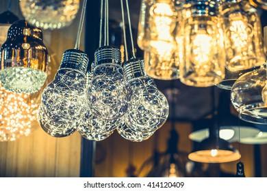retro luxury light lamp decor glowing ,Retro style