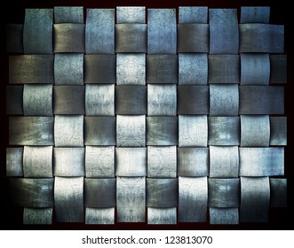 Retro metallic grid, vintage background