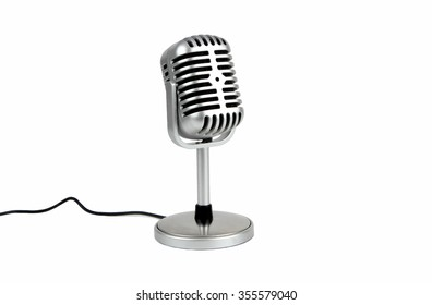 Retro microphone. ( Dynamic microphone ) on white background