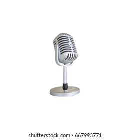 Retro microphone isolated on isolate background.