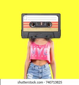 Retro music concept.