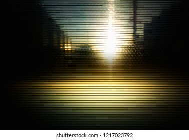 Retro neon city texture with light leak background
