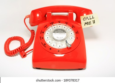 retro old fashion rotary dial phone closed and ready
