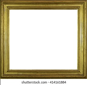 Retro old golden frame with no content