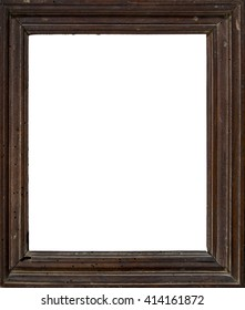 Retro old wooden frame with no content