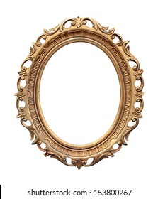 Retro oval frame isolated with clipping path included