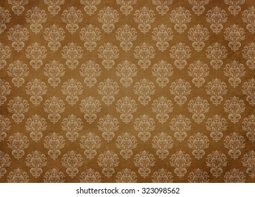 Retro pattern. Vintage background. Brown abstract pattern