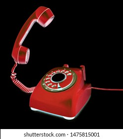 retro phone of the hook toned image
