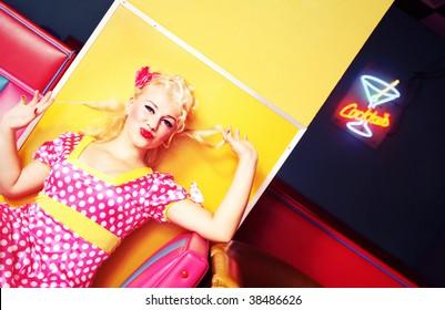 Retro pin up girl similar available in my portfolio