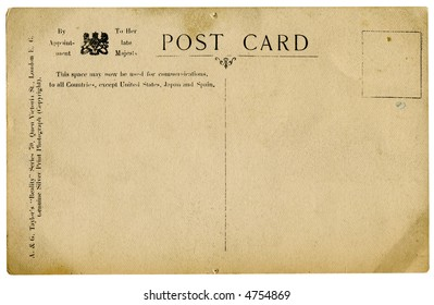 retro post card isolated on white with  clipping path