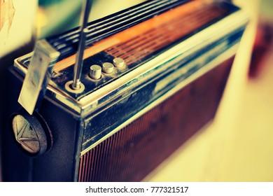 Retro radio in vintage color