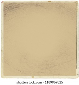 Retro-realistische quadratische Fotokarte einzeln auf weißem Hintergrund. Vorlagenfoto-Design, Polaroid-Rahmen