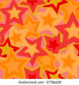 Retro red seamless star background