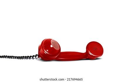 Retro Red Telephone Receiver
