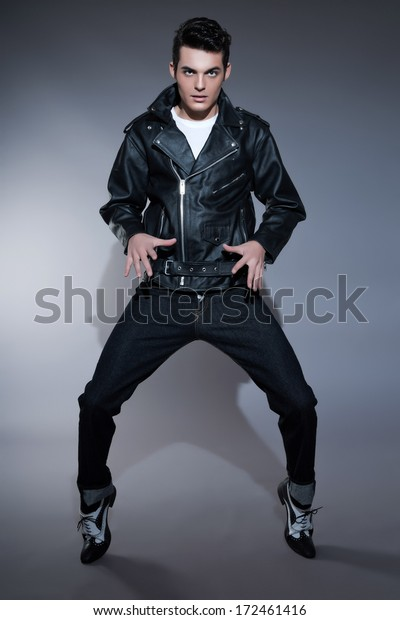 Retro Rock Roll 50s Fashion Man Stock Photo (Edit Now) 172461416