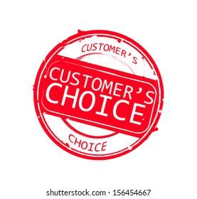 "Retro round red rubber stamp  ""Customer's Choice"""