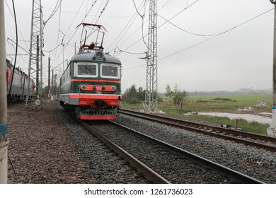 retro Russian electric locomotive