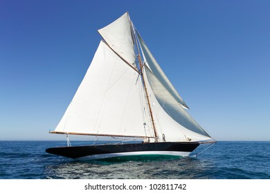 retro sailing on a yacht
