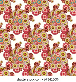 Retro seamless colorful dots pattern. Ideal for printing onto fabric and paper or decoration.