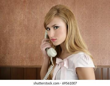 Retro secretary woman businesswoman vintage office