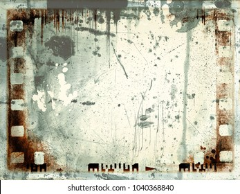 Retro sepia film strip frame or background
