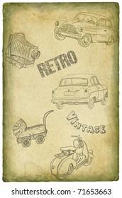 Retro set illustration