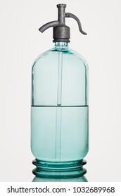 Retro soda siphon isolated on white