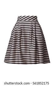 Retro striped skirt isolated on white background